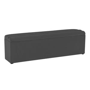 Tmavosivá lavica s úložným priestorom Cosmopolitan Design Los Angeles