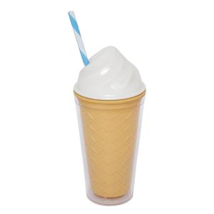 Biely dvojstenný téglik Sunnylife Ice Cream, 470 ml