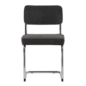 Antracitovosivá jedálenská stolička Unique Furniture Rupert Bauhaus