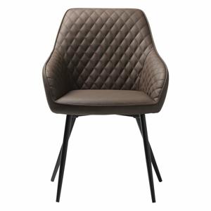 Hnedá koženková jedálenská stolička Unique Furniture Milton