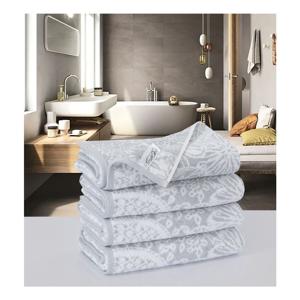 Sada 4 bavlnených uterákov Muller Textiels Preyo Gris, 50 × 100 cm