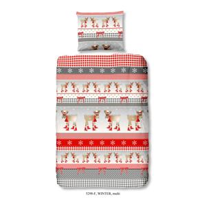 Detské flanelové obliečky z bavlny na jednolôžko z čistej bavlny Good Morning Simana, 140×200 cm