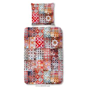 Obliečky na jednolôžko z bavlneného saténu Muller Textiels Rassano Pendoro Roja, 140×200 cm