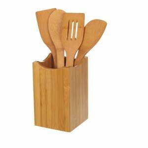 Sada 4 kuchynských nástrojov z bambusu v stojane Unimasa