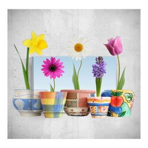 Nástenný 3D obraz Mosticx Colourful Flowers, 40×60 cm