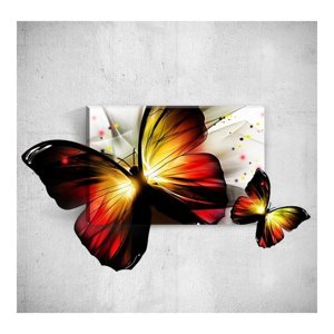 Nástenný 3D obraz Mosticx Butterfly, 40×60 cm