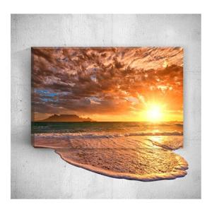 Nástenný 3D obraz Mosticx Sea Sunset, 40×60 cm