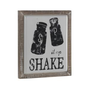Dekoratívna ceduľa v drevenom ráme Geese Shake