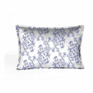 Modro-biela dekoratívna obliečka na vankúš Velvet Atelier Sea, 50×25cm