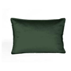 Tmavozelená dekoratívna obliečka na vankúš Velvet Atelier Bobby, 50×35cm