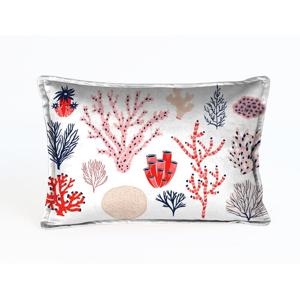 Farebná dekoratívna obliečka na vankúš Velvet Atelier Plankton, 50×35cm