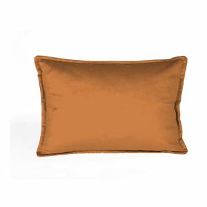 Oranžová dekoratívna obliečka na vankúš Velvet Atelier, 50×35cm