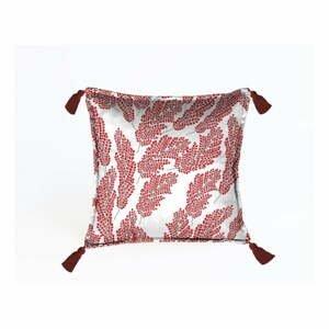 Červená dekoratívna obliečka na vankúš Velvet Atelier, 45×45cm
