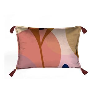 Farebná dekoratívna obliečka na vankúš Velvet Atelier Details, 50x35cm