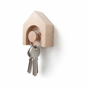 Vešiak na kľúče z bukového dreva Qualy&CO Hauss