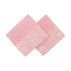Sada 2 ružových uterákov z bavlny Marianis, 50 x 90 cm