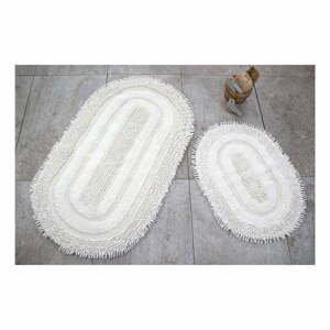 Sada 2 bielych kúpeľňových podložiek Jane