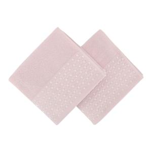 Sada 2 ružových uterákov na ruky Ulla
