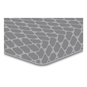 Sivá elastická plachta so vzorom DecoKing Rhombuses, 90×200 cm