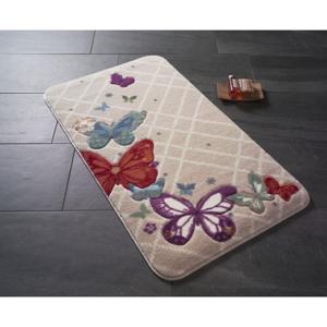 Kúpeľňová podložka s motívom motýľov Papillon, 100 × 57 cm