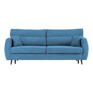 Modrá trojmiestna rozkladacia pohovka s úložným priestorom Cosmopolitan design Brisbane, 231×98×95 cm
