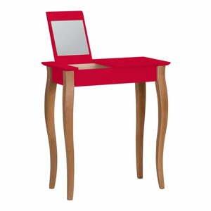 Červený toaletný stolík so zrkadlom Ragaba Lillo, šírka 65 cm