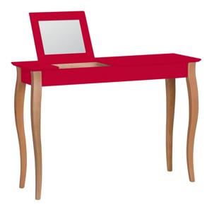 Červený toaletný stolík so zrkadlom Ragaba Lillo, šírka 105 cm