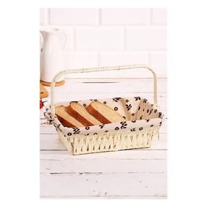 Košík na pečivo z vrbového prútia Logan Anabelle, 30 × 20 × 9 cm