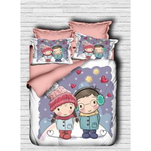 Obliečky s plachtou na dvojlôžko Lovers, 200 × 220 cm
