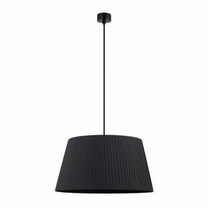 Čierne stropné svietidlo s čiernym káblom Sotto Luce Kami, ∅ 45 cm