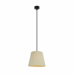 Krémové stropné svietidlo s čiernym káblom Sotto Luce Kami, ∅ 24 cm