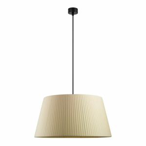 Krémové stropné svietidlo s čiernym káblom Sotto Luce Kami, ∅ 54 cm