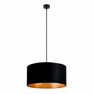 Čierne stropné svietidlo s vnútrajškom v zlatej farbe Sotto Luce Mika, ∅ 40 cm