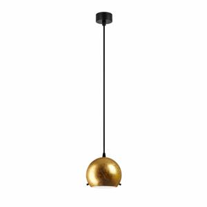 Stropné svietidlo v zlatej farbe s čiernym káblom Sotto Luce Myoo