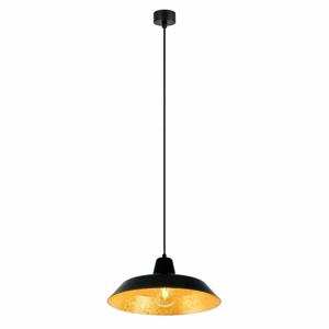 Čierne stropné svietidlo s vnútrajškom v zlatej farbe Bulb Attack Cinco, ∅35 cm
