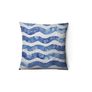 Zamatová obliečka na vankúš Azul Waves Duro, 43 x 43 cm