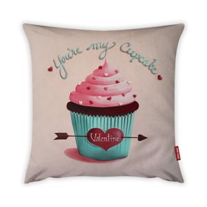 Obliečka na vankúš Vitaus Pink Muffin, 43×43 cm