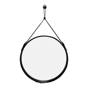 Závesné zrkadlo v čiernom ráme RGE Elvis, ø 50 cm