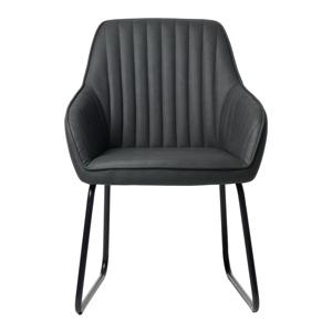 Sivá jedálenská stolička Unique Furniture Brooks