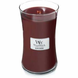 Vonná sviečka Woodwick Čierna čerešňa, 110 hodín horenia