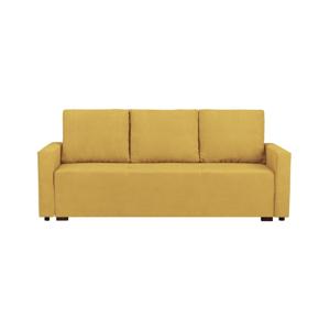 Žltá trojmiestna rozkladacia pohovka s úložným priestorom Melart Francisco