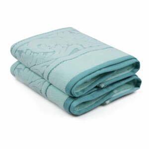 Sada 2 mentolovozelených bavlnených ručníku Sultan, 50 × 90 cm