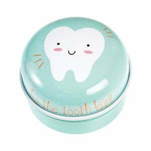Svetlozelená plechová škatuľka Rex London Tooth Fairy