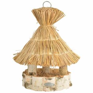 Drevené závesné kŕmidlo pre vtáky Esschert Design, ⌀ 30,5×37 cm