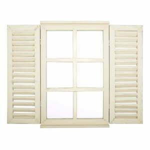 Biele zrkadlo Ego Dekor Okno s okenicemi, 59 × 39 cm