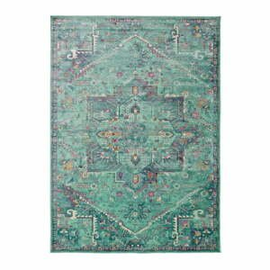 Zelený koberec z viskózy Universal Lara, 160 x 230 cm