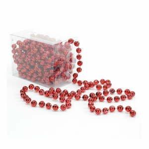 Dekoratívna reťaz v červenej farbe Unimasa Balls, dĺžka 5 m