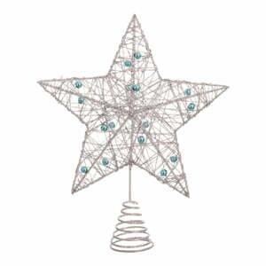 Hviezda na stromček v striebornej farbe Unimasa Star