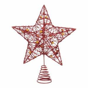Hviezda na stromček v červenej farbe Unimasa Star