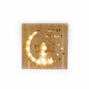Drevená svietiaca dekorácia Dakls Sweet Dreams